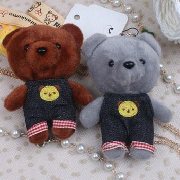 Free shipping (3pcs/lot) little bear stuffed animals toys quality doll pendant