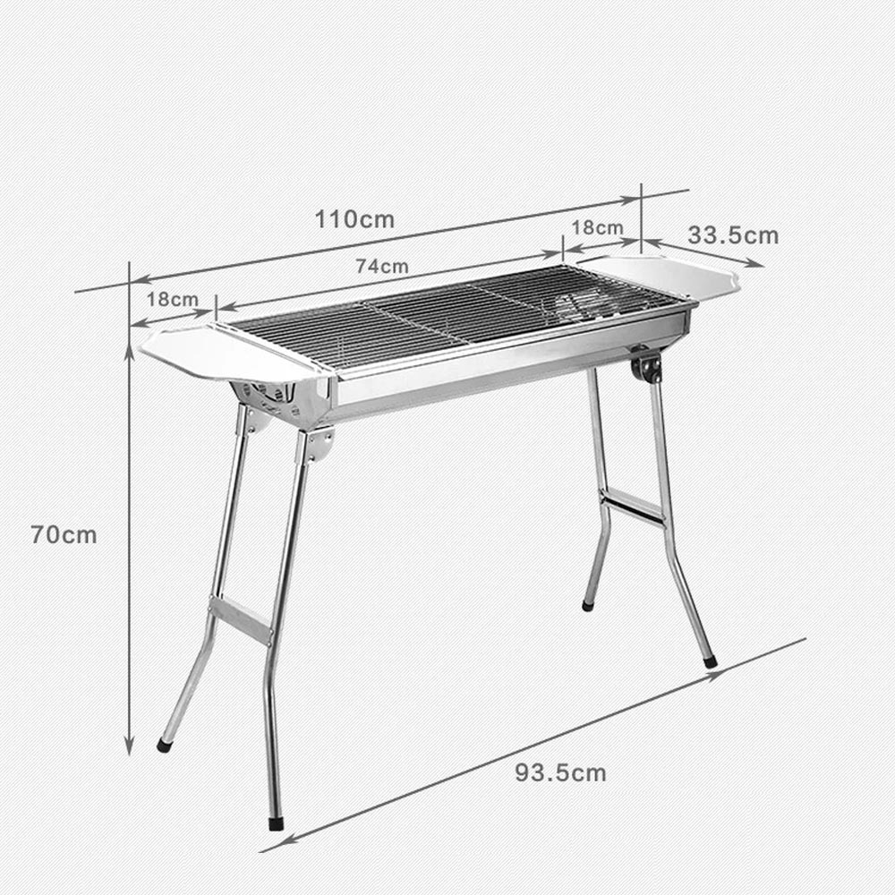 Big style Outdoor Barbecue Picnic Stainless Steel Outdoor Barbecue Oven Charcoal Portable Grill Kabob BBQ Grill(China (Mainland))