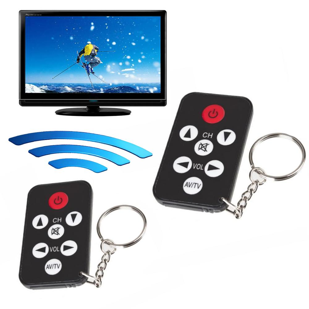 Black Mini Universal Infrared IR TV Remote Control Controller 7 Keys Button Key Ring Wireless Smart Remote Control of all TV(China (Mainland))
