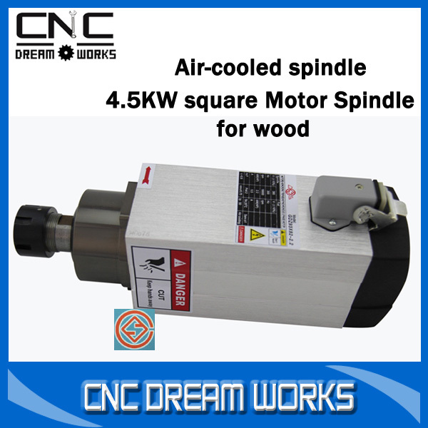 Шпиндель станка SC 4.5kW 4.5kW air/cooled ER32 CS018D 4.5kw Square Air-cooled Spindle 1 5kw air cooled spindle motor cnc spindle motor 110v 220v 1 5kw inverter 1set er11 square milling machine spindle