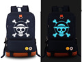 New ONE PIECELuffy cosplay Backpack Anime Trafalgar D Water Law Fashion Canvas Student Luminous Schoolbag Unisex