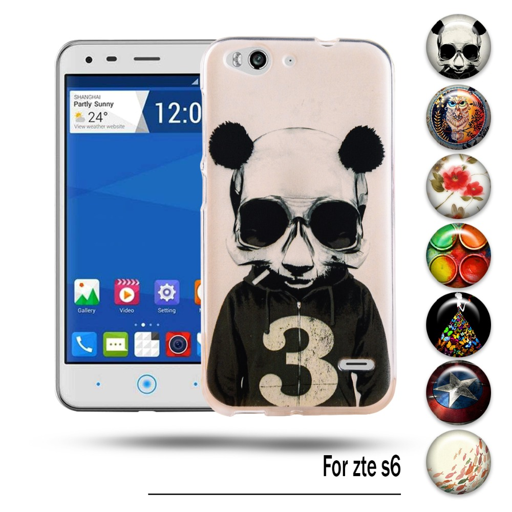 Colorful Soft TPU Phone Case Cover For ZTE Blade S6 Q5 5inch Flexible Cases Shell For ZTE S6 5 inches Silicon Housing Bag Shield(China (Mainland))