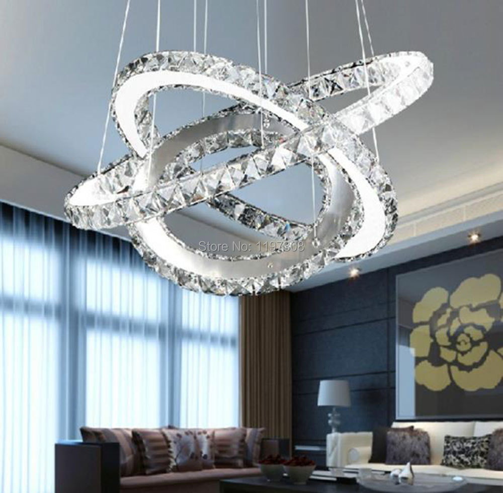 Led crystal chandeliers light fixtures modern crystal chandelier light with remote control - Can light chandelier ...