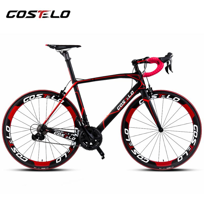 Costelo Cento 1 SR Road bicycle Carbon fiber complete bike carbon frame,handlebar,stem,carbon wheels 50mm 6 level Groupset bici(China (Mainland))