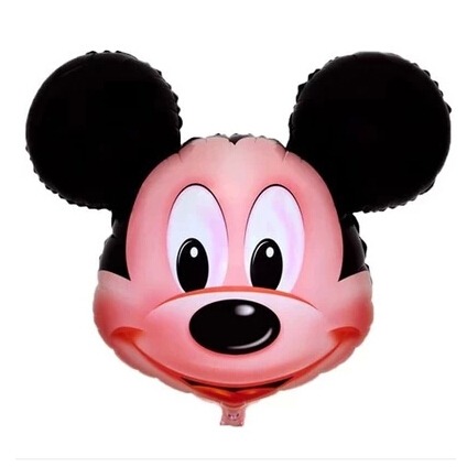 1Pcs 32 inch Mickey Mouse Head Cartoon Foil Balloons forWedding Birthday Party ,Inflatable Helium Balloon(China (Mainland))