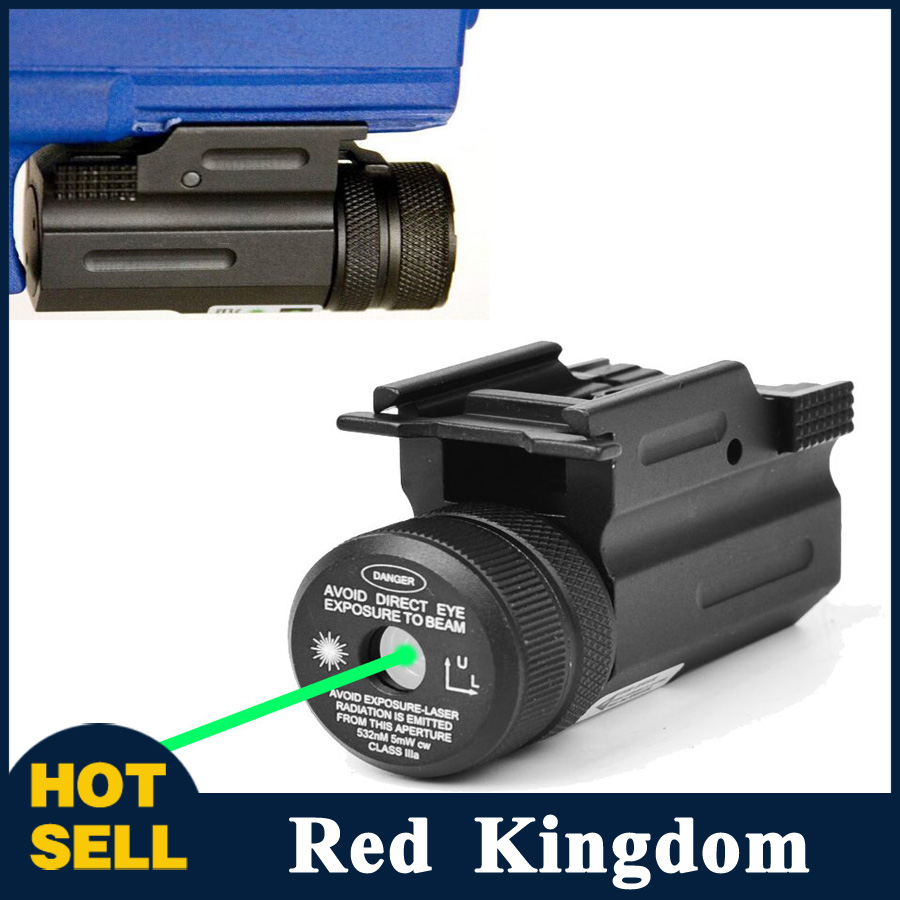 New Hottest  Green Dot Laser Sight 20mm Picatinny Rail QD Mount for Rifle Glock For Rifle and Handgun Hunting Free Shipping