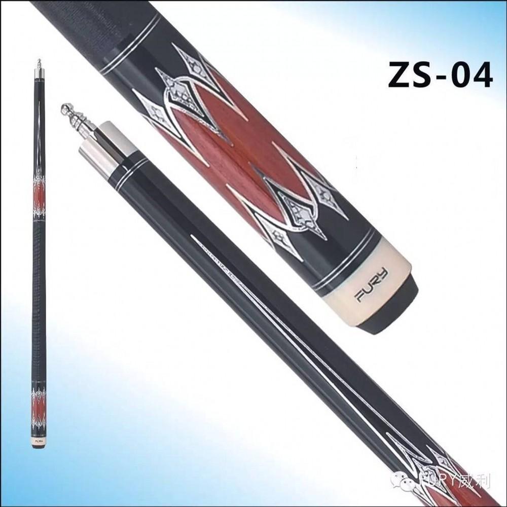 "58"" Billiards fury pool cues ZS Series Model ZS-04 billard cue Americain 11.75mm tiger Tip(China (Mainland))"