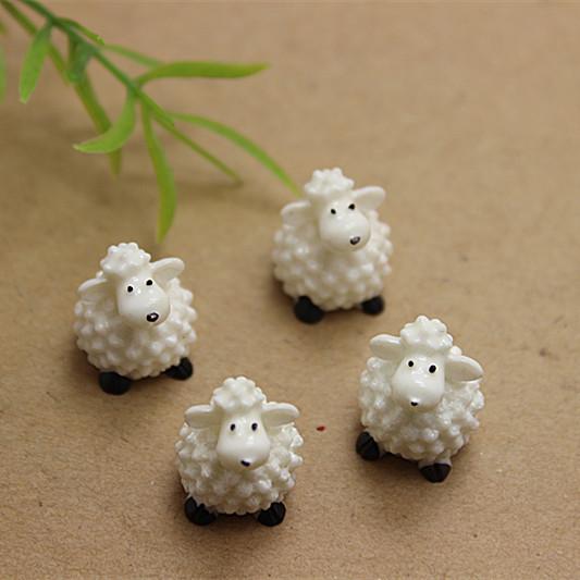 free shipping 50pcs cute 3D Resin sheep for DIY micro world decoration(China (Mainland))