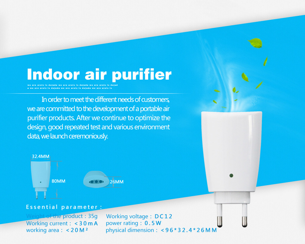 1 pc free shipping TRUMPXP ZE-86120 US Mini pet odor removal home remedies Plasma Air purifier(China (Mainland))