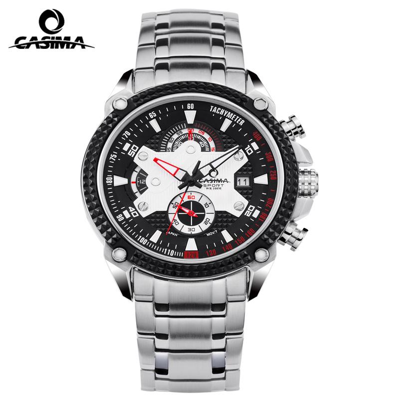 Casima men 39 s watch stainless steel sports fashion luxury watches multifunctional quartz watch for Casima watches