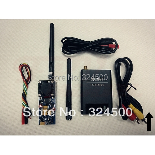 Discount FPV Radio Remote Control Audio Video AV Wireless Transmitter Receiver 5.8Ghz 500mW 8 Channel RC805 Kit RC Airplane 5.8G<br><br>Aliexpress