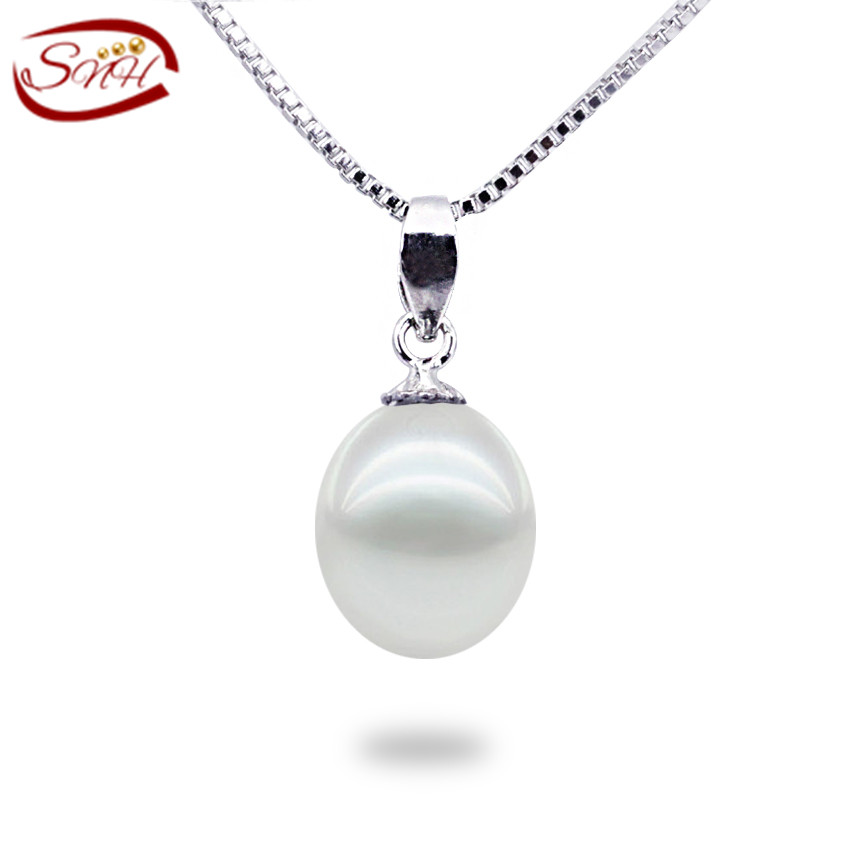 2015 natural freshwater Pearl Pendant For Girl 925 sterling Silver cultured genuine real Natural Pearl Choker Necklace(China (Mainland))