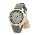 BOBO BIRD D11 Bamboo Wood Watches Nylon Straps Wooden Dial Face Japan 2035 Movement Quartz Watch
