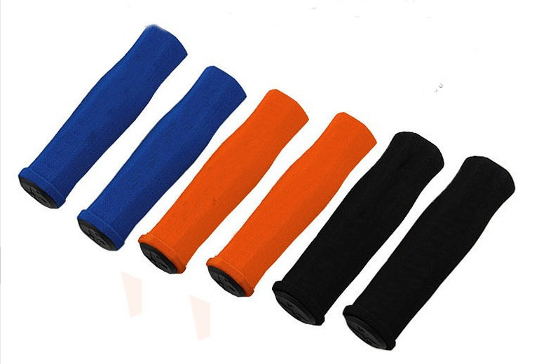 50pair/lot Fixed Gear Bikes colored checkered silicone Handlebar Grips CE021<br>