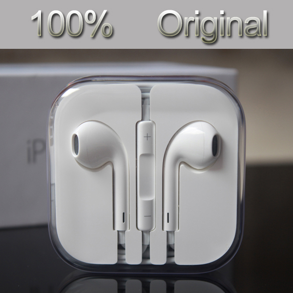 100% Guarantee Original and Brand New Headset Earpods Earphone For iPhone 5 5S 5C 6 6 Plus phone earphones Free Shipping(China (Mainland))