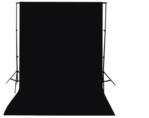 4pcs/lot 1.5x3m 5x10ft  Backdrop Black Cloth Non-woven fabric Photo Photography Background