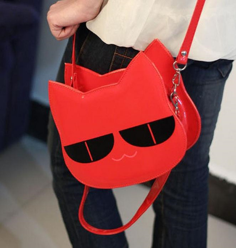 2015 three-dimensional shaping little owl bags japanned leather small handbag cross-body bag cat mini women's handbag(China (Mainland))