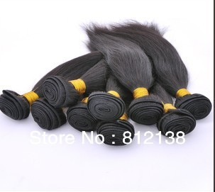 4pcs/Lot Straight Color 1B# Brazilian Hair 100% remy human hair extensions,  Can Not Be Dyed, free shipping by DHL or FEDEX