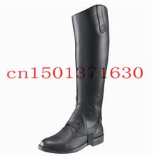 Equestrian COOL Chaps Half pants Leg protector PU Horse-manship  warmer Black Free Shipping hard-wearing(China (Mainland))