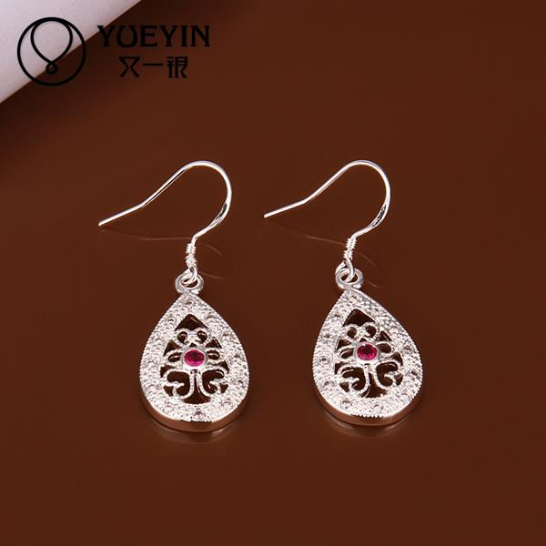 Hot sale fine Jewelry E405 2015 New supplies Silver Plated Women Earrings fashion high quality(China (Mainland))