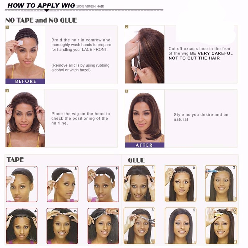 8A Brazilian Full Lace Human Hair Wigs for Black Women Baby Hair Glueless Full Lace Wig