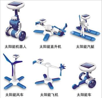 hot selling DIY solar toy 6 modelling windmill robot helicopter dunker vehicle airplane free shipping
