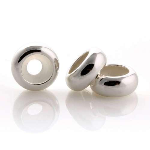 925 интервал очарование пробка полировка NL гладкий бусины безопасности матс подходит для пандора браслет ожерелья и кулоны