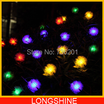1pcs/lot Solar string lamp Outdoor solar string light 20 led chips Solar Power Lamp Warm white Cool white RGB Color(China (Mainland))
