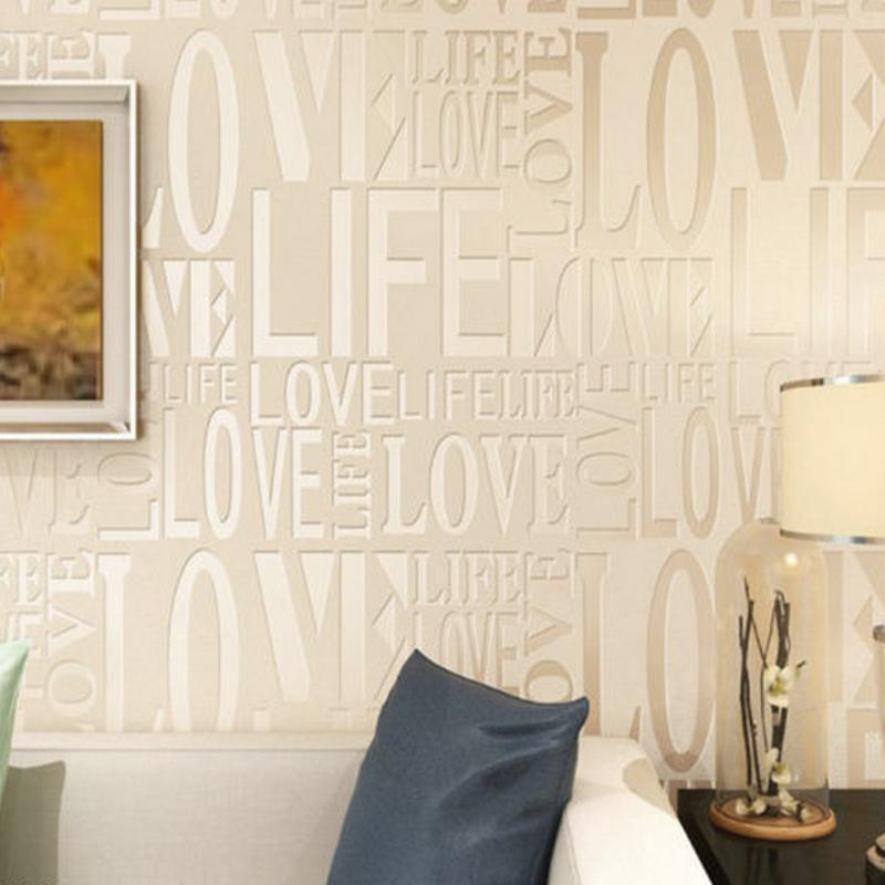 Popular love letters wallpaper buy cheap love letters for Living room 6 letters