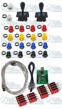 Arcade parts Bundles kit With American Joystick,Pushbutton,Microswitch,2 player USB board to Build Up Arcade Machine By Yourself(China (Mainland))