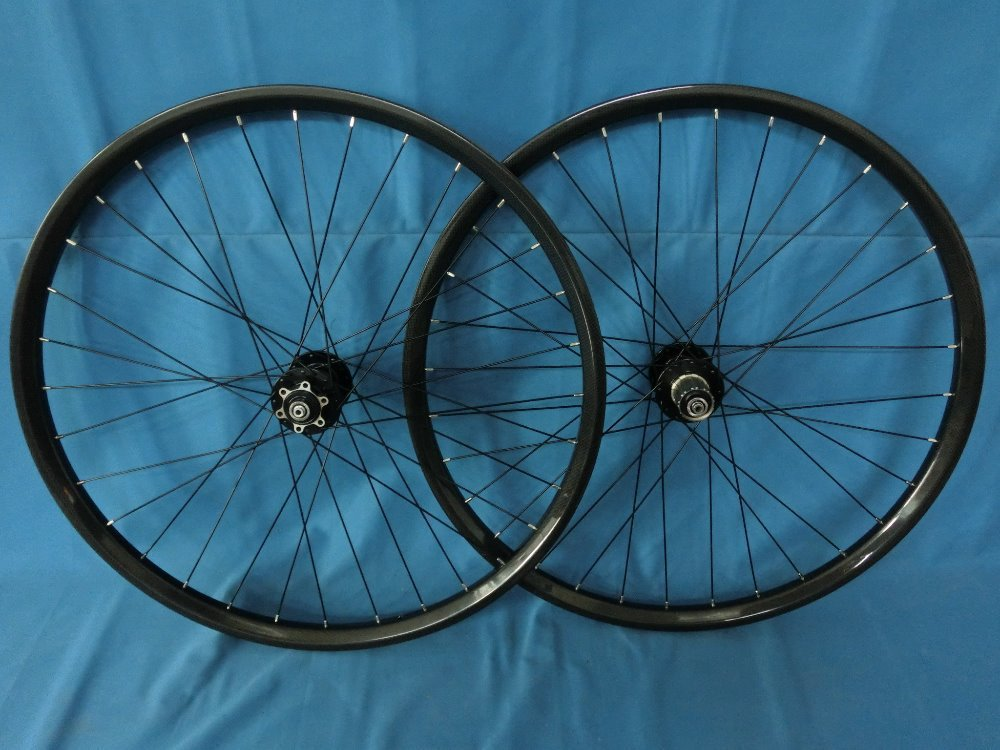 Downhill carbon mountain bicycle wheelset 29er. High profile mtb wheelset(China (Mainland))