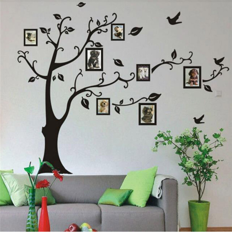 Frame Tree Wall Stickers Muslim Vinyl Home Stickers Wall Decor Decals High Quality Hot Sale Wholesale Free Shipping,Jan 4(China (Mainland))