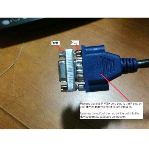 COFA HD15 (VGA) Female / HD15 (VGA) Female, VGA Mini Gender Changer (For PC)<br><br>Aliexpress