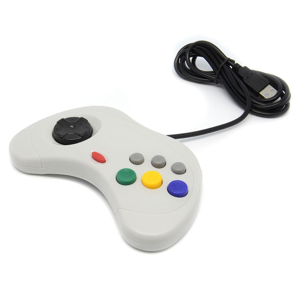 Classic Design USB Controller Joystick Pad For Retrolink For Sega for Saturn PC for MAC Grey Retro Video Games<br><br>Aliexpress