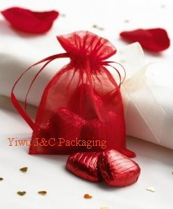 Red Wedding Gift Bags : 9x7cm Red Organza Bag,Christams & Wedding Gift Bags,Jewlery Bags Gift ...