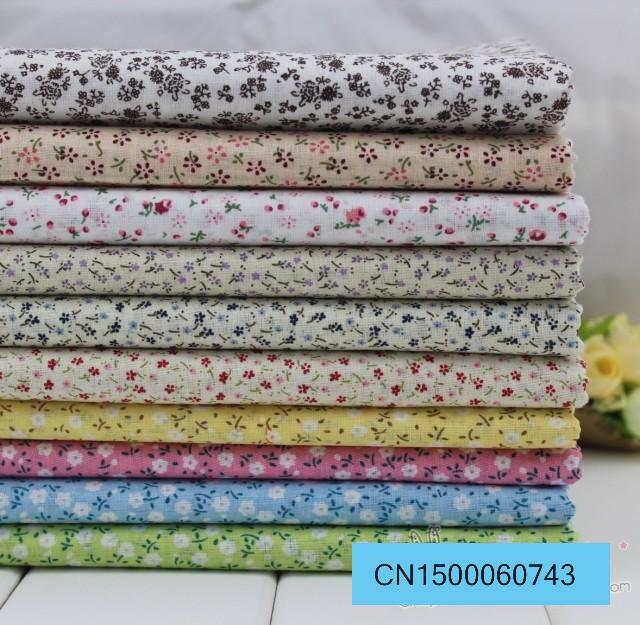 1 meter small floral pastoral thin plain 100% cotton fabric quilting handmade DIY doll clothes tilda patchwork for sewing(China (Mainland))