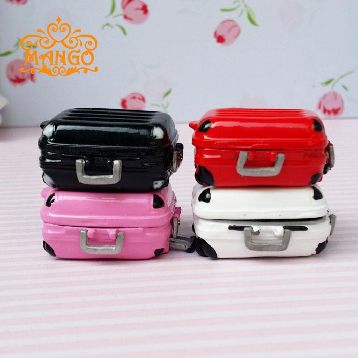 Free Shipping 1:12 Dollhouse Miniature Furniture children baby gift Toy rement alloy suitcase luggage trunk new(China (Mainland))