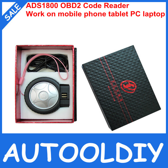 Top 2014 Super Performance ADS1800 OBD2/EOBD/JOBD Code Reader for Android and Windows System support Free Shipping(China (Mainland))