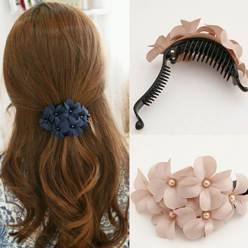 Flower Hair Accessoires Clip Barrette Crab Women's Hairpin Crab Hair Femme Hairpins Hair Clips for Women Griffe Cheveux TS10500(China (Mainland))