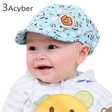 New Spring Autumn Baby Caps Elastic 42-52cm Unisex Cotton Baby Hat Caps Cute Baseball Caps 3-24 Months Free Shipping 41(China (Mainland))