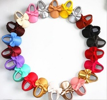 100 pairs/lot bow leather girl shoe