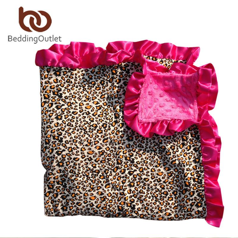 BeddingOutlet Minky Blanket Super Soft Kids Blanket Bohemian/Boho Blanket with Satin Trim Original Mink(China (Mainland))