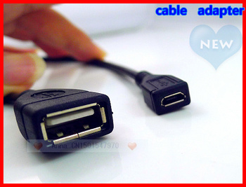 80pcs/lot,Mini USB 2.0 A female to Micro USB B female adapter cable for mobile phones