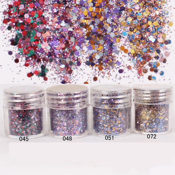 1 Box Nail Glitter Christmas Color Glitter Powder Super Fine Powder Sheets Tips Decoration Nail Art Glitter 8193449(China (Mainland))