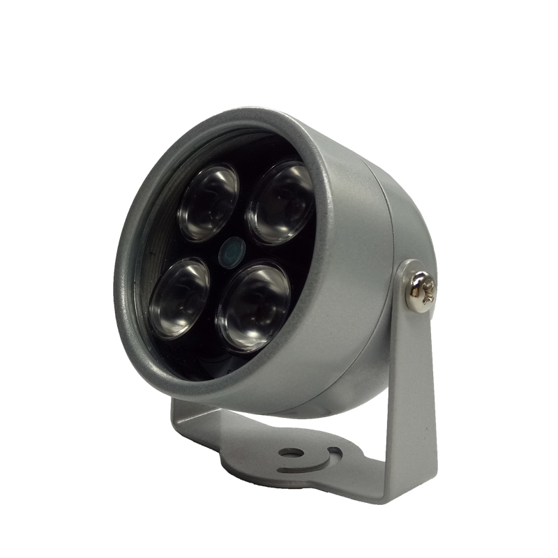 4 IR LED Infrared Illuminator Light IR Night Vision for CCTV Security Cameras Fill Lighting metal gray Dome Free shipping(China (Mainland))