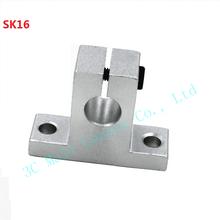 4pcs lot 3D printer parts SK16 16mm linear rail Bearings Shaft Guide Support XYZ Table CNC