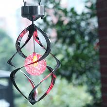 New arrival Color Changing Solar Powered LED Windchimes Wind Spinner Outdoor Garden Courtyard Wind Chime(China (Mainland))