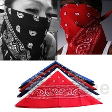 HOT 1pcs Paisley Bandana HeadWrap Hair wrap Double Side Print 1 pc Cotton Scarf Headband free shipping(China (Mainland))