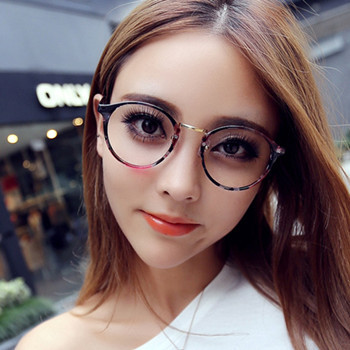 Thin Framed Fashion Glasses : Buy 2015 NEW cat eye Optical frames women leather bowknot ...