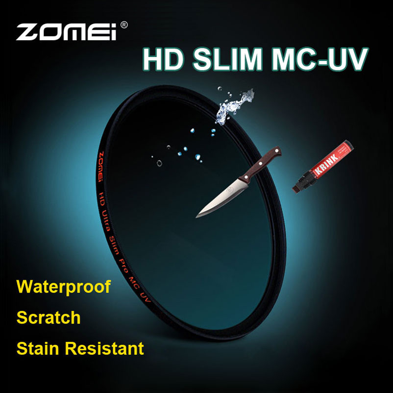Zomei 58mm HD 18 layer HMC Ultra Slim MC UV Filter waterproof oilproof Scratch MCUV Filter for Canon Nikon Sony Pentax Fuji Lens(China (Mainland))